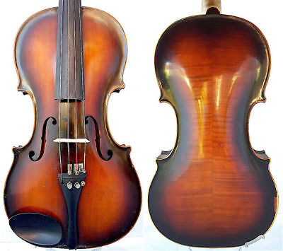 FINE 4/4 ANTIQUE Wien VIOLIN Label: Adolf STUBIGER FLAMED WOOD fiddle 小提琴 ヴァイオリン