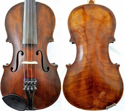 FINE 4/4 ANTIQUE VIOLIN Label CASPER STRNAD a.1791 FLAMED WOOD fiddle 小提琴 ヴァイオリン