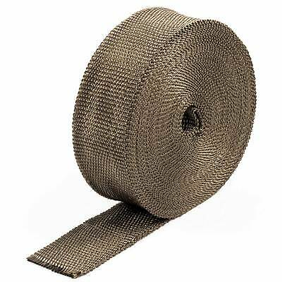 2.5cm x 15M Titanium Exhaust Manifold Turbo Heat Wrap Tape Roll & 10 Cable Ties