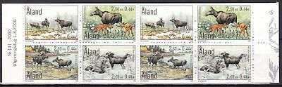 Aland 2000 The Elk Complete Booklet (2) Mint Never Hinged