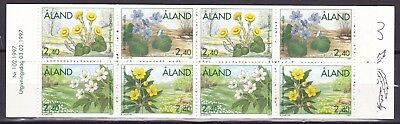 Aland 1997 Flowers Complete Booklet (4) Mint Never Hinged