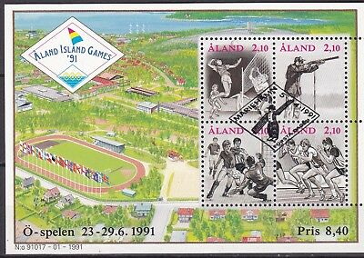 Aland 1991 Games S/s (7) Used