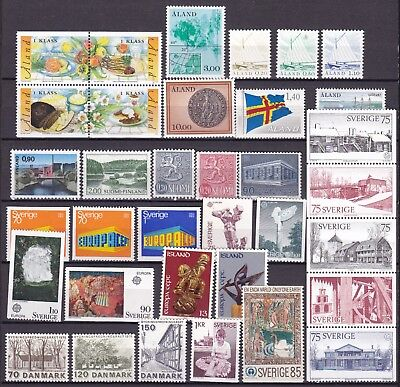 Scandanavia Commemoratives (8) Mint Never Hinged