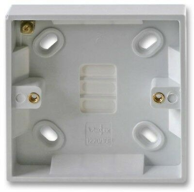 16mm Single 1 Gang Surface Mount Slim Pattress Back Box Wall Socket Light Switch