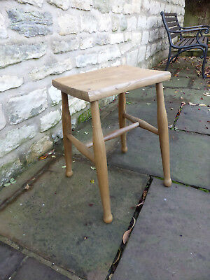 Victorian Elm/Beech/Ash Oblong Top Stool.