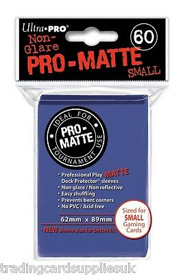 60 Ultra Pro Blue Pro-Matte Deck Protectors. YuGiOh Size Trading Card Sleeves.
