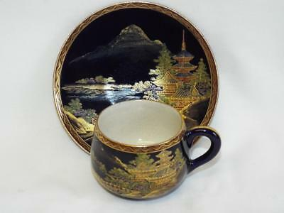 Nice antique handpainted Satsuma cup & saucer.