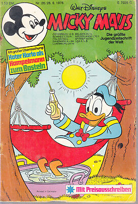 Micky Maus Nr. 26 1976 ohne Beilage / 26.6.1976