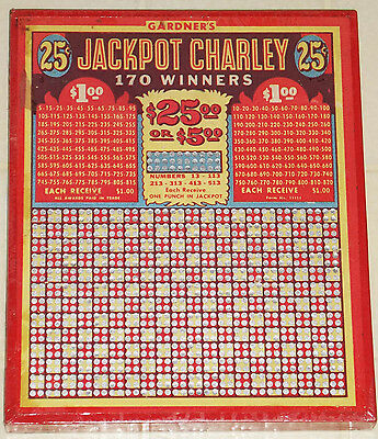 "Vintage Gardners 25 Cent ""jackpot Charley"" Unpunched Board Game--Nice Condition!"