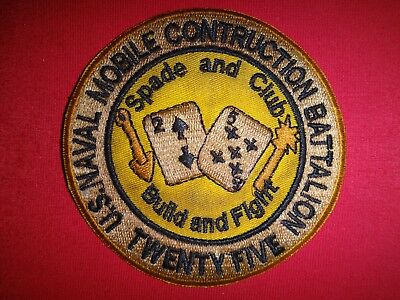 US 25th Naval Mobile Construction Battalion NMCB-25 SPADE AND CLUB Patch