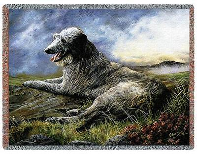 Throw Tapestry Afghan - Scottish Deerhound by Robert May 1933