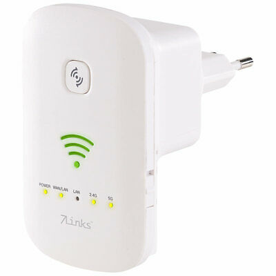 7links Dualband-WLAN-Repeater, Access Point & Router, 1.200 Mbit/s, WPS-Taste
