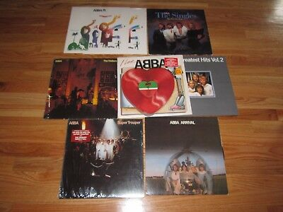 8 ABBA Records SUPPER TROUPER DANCING QUEEN CASSANDRATAKE A  CHANCE ON ME GIMME