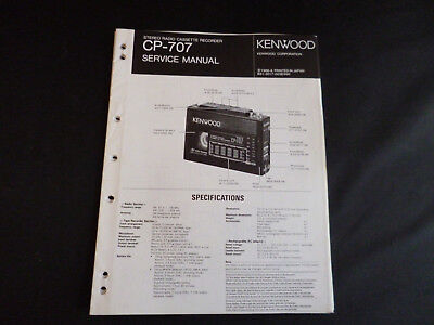 Original Service Manual Kenwood CP-707