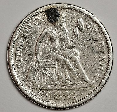 1883 Seated Liberty Dime.  Love Token.  109076