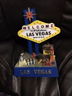 Welcome To Fabulous Las Vegas Nevada Light Up Sign 3-D Strip Luxor Dice Slots