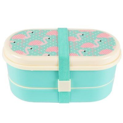 Sass and Belle Pink Flamingo Bento Lunch Box. Plastic food storage