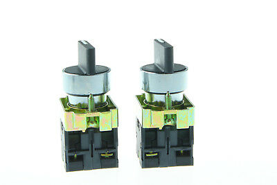 US Shipping XB2-BD33C 10A 3 Position 2NO Maintained Toggle Select Switch 2Pcs