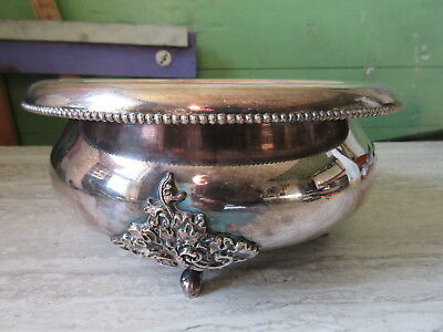 Antique Meriden Silver Plated Footed Bowl or Planter