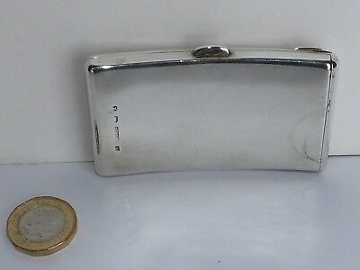 Victorian Silver Bow Shaped Card Case. Rectangular. Birmingham 1897.