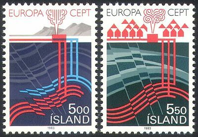 Iceland 1983 Thermal Energy/Europa/Nature/Geology/Volcano/Power 2v set (n25671)