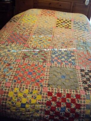 Antique Postage Stamp Quilt Cutter Mid Century Feed Sack & Vintage Fabric Crafts