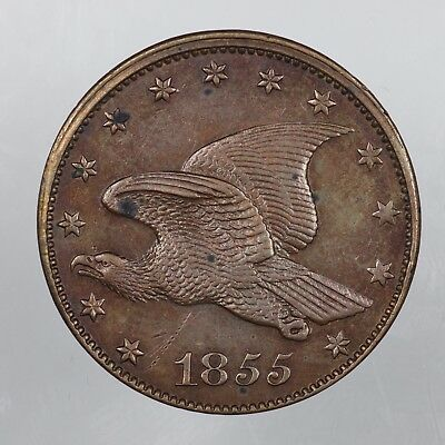 1855 Flying Eagle Large Cent Pattern Coin J-167