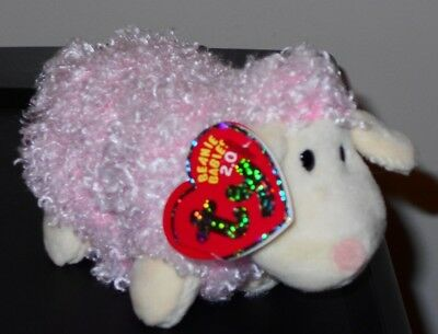 Ty Beanie Baby BB 2.0 ~ BAABET the Lamb ~ MINT w/ CREASED TAG ~ Stuffed Animal