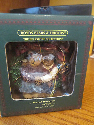 "Boyds Bears & Friends Bearstone Collection, ""Holly & Berry"" NIB 2003"