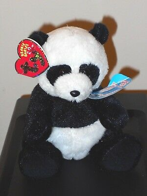 CT* Ty Beanie Baby BB 2.0 ~ MING the Panda Bear ~ with CREASED TAG