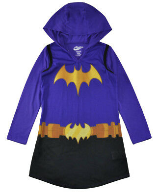 DC Super Heroes Girls Batgirl L/S Night Gown Size 6/6X 7/8 10/12 14/16