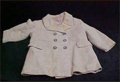 Vintage Antique Little Boy Wool Coat 1930s Era Find Classic Design Tweed