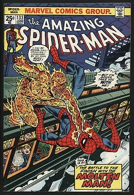 Amazing Spider-Man #133 White Pages  Great Value Copy Marvel Value Stamp Intact