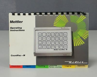 Mettler CountPac-M Application Package Operating Instructions