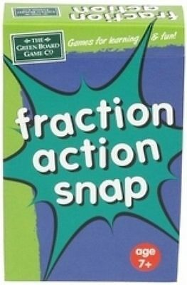 Fraction Action Snap Card Game for Children - Numeracy Maths Resource g13