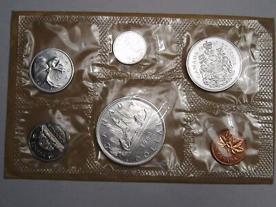 6 Coin Proof-Like Canadian Silver 1962 Set.  #5