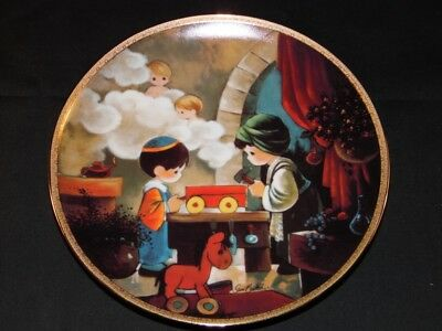 Precious Moments Plate The Carpenter Shop - Precious Moments Bible Story Plate