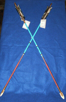 "Set of 2 Hand Painted Arrows Native American made 33""  Deer & Eagle #01"