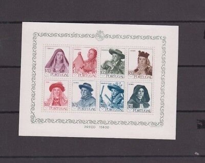 Dec 353 Portugal Stamps MNH Block Very HCV Rare Stick to paper