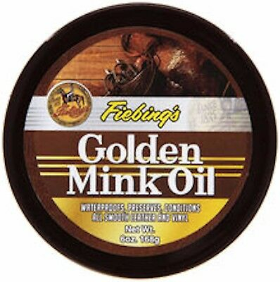Fiebing's Golden Mink Oil Paste Leather Conditioner 6 oz 2346-02