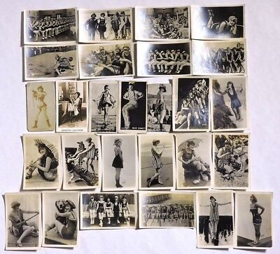 S743. VINTAGE: Lot of 27: MACK SENNETT & More PIN-UP GIRL Cards (1920's) [