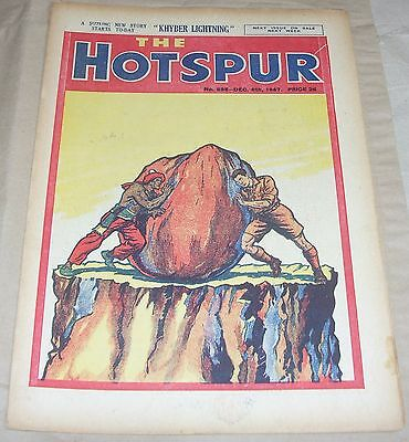 The Hotspur No 595 RARE Vintage UK Comic From December 6th 1947 Cannonball Kidd