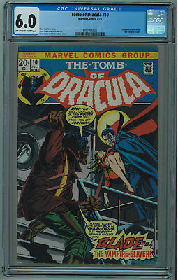 Tomb Of Dracula #10 Cgc 6.0 1St Blade The Vampire Slayer Ow/w Pgs 1973 006