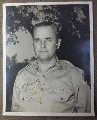 Vintage 1943 WW II Signed B/W Photograph Col A H Parham Texas State Guard