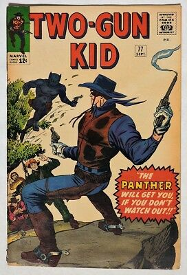 S773. TWO-GUN KID #77 by Marvel (1965) BLACK PANTHER-Esque Villain, KIRBY Art =