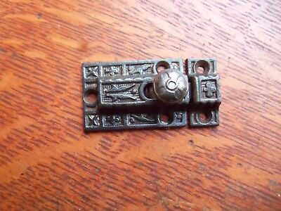 Antique Fancy Ornate Victorian Iron Cabinet Latch c1885