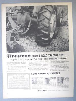 Original 1963 Firestone Ad Photo Endorsed by Tom Cameren of Wilmer Texas