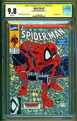 Spider-Man #1 (1990 Marvel) Lizard appearance Signed Todd Mcfarlane CGC 9.8