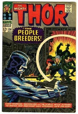 Thor #134 (1966) Fine New Original Owner Marvel Comics Collection