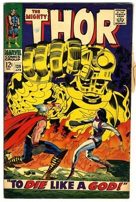 Thor #139 (1967) Fine New Original Owner Marvel Comics Collection